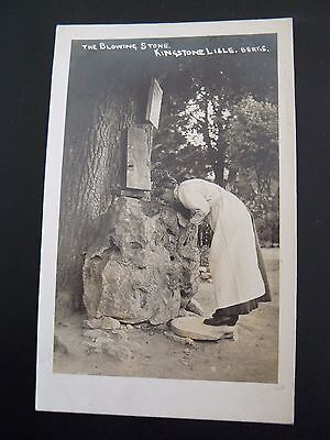 The Blowing Stone Kingston Lisle Berkshire Real Photo RP Postcard - Wantage