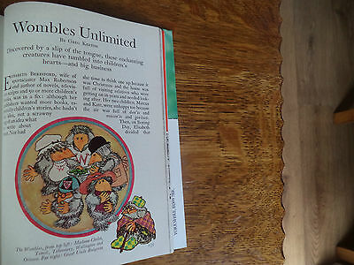 The Wombles Scarce Vintage  Magazine Article