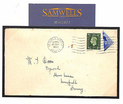 MS2601 1937 GB KEVIII BISECT *Surrey Redhill Reigate* Accepted for Postage RARE