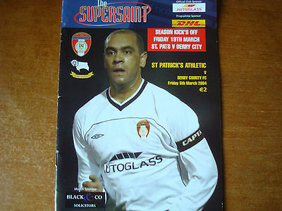 St. Patrick's Athletic V Derby County Mar 2004