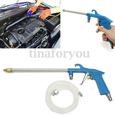 Engine Oil Grease Cleaning Gun Solvent Air Sprayer Degreaser Tool 42.5'' Hose