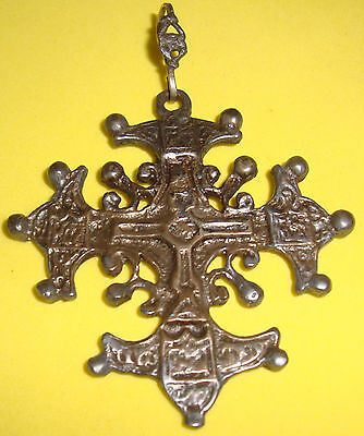 96 yr.Antique Silver 800 (Gold Wash)  Cross Pendant, Cellini Shop Florence Italy