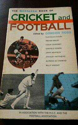 THE GILLETTE BOOK OF CRICKET AND FOOTBALL 1963 Paperback