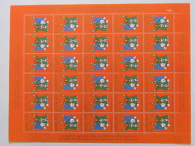 GREENLAND Christmas Seal Stamp 1985 UNFOLDED