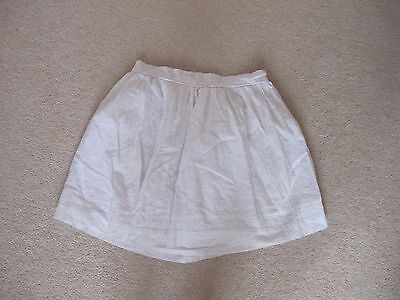 Girls John Lewis Fully Lined 100% Cotton White Skirt Age 11 Years Hardly Worn