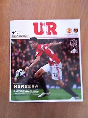 Manchester United Vs West Ham United Matchday Programme 27/11/2016