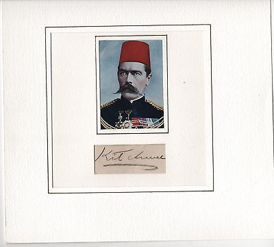 HAND SIGNED AUTOGRAPH FOR KITCHENER - 1st EARL KITCHENER OF KHARTOUM