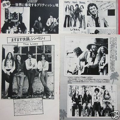 THIN LIZZY PHIL LYNOTT SCOTT GORHAM Brian Robertson 1976 CLIPPINGS ML 1A 4PAGE
