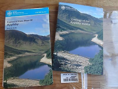 Map Geology /Appleby District. British Geological Survey/ Map & Monograph 30.