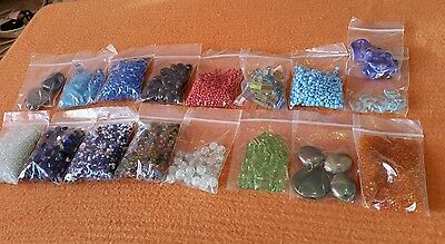 Mixed Job lot of beads for crafts and sewing over 500Grams