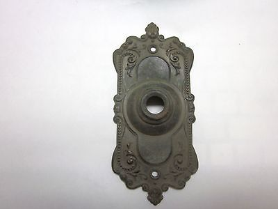 Antique Brass Victorian / Eastlake Doorbell push button cover Very detailed