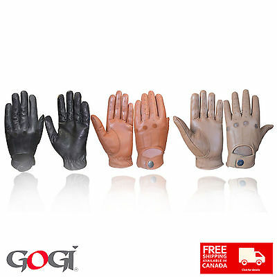 Gogi Men's Classic Real Leather Driving Gloves Unlined All Season 1006 S-XL