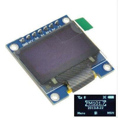 "5 PCS Blue 3-5V 0.96"" SPI Serial 128X64 OLED LCD LED Display Module for Arduino"