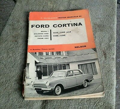 Ford Cortina Mk1 Manual By P Olyslager