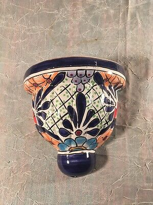 Talavera Wall Sconce Planter Herb Starter Floral Decoration Lighting Accent