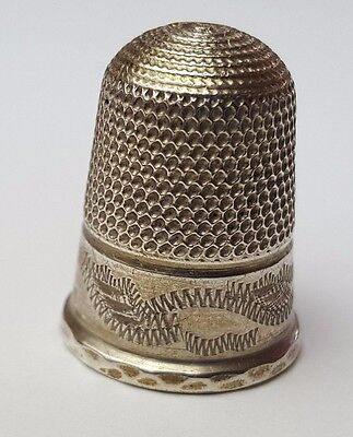 Antique / Vintage - Sewing Thimble - Hallmarked - Solid Sterling Silver - Rare
