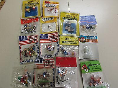 14 Vintage Packs Assorted Miniature  Plastic Figures  Collectables A
