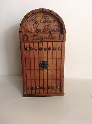 La Cava De Don Agustin Tequila Carved Wood Box