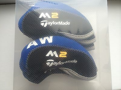 10 new RH taylormade black / blue M2 Golf CLUB iron head covers HEADCOVERS