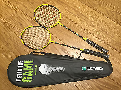 Badminton Rackets x2 with Bag