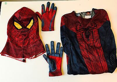 Spiderman Costume 10–12 With Face Mask And Gloves