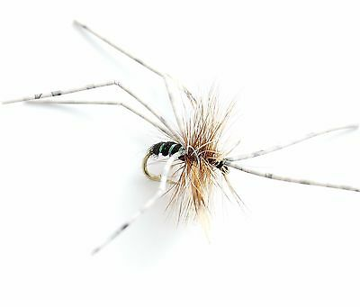 Trout Dry Trout Fly Fishing Flies Daddy long legs 123D 12 Hook