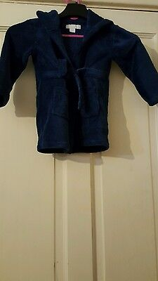 Lovely boys hooded dressing gown age 18-24 months