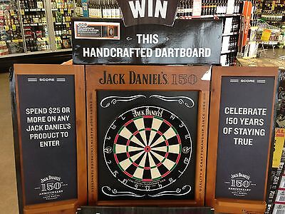 Jack Daniels Handcrafted Dart Board Rrp $499, Pick Up Only.