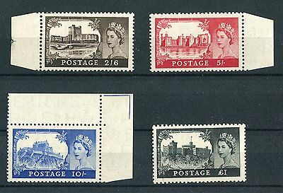 GB QEII 1955 Castles high values (Waterlow) set of four SG536/9 MNH