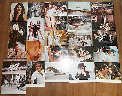 24 x James Bond The Man With The Golden Gun film photo stills all with a seal
