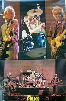 Rare The Police 1982 Vintage Original Music Poster