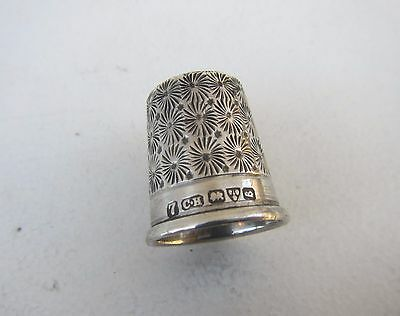 Old Solid Silver Thimble - Hallmarked Charles Horner, Chester 1927