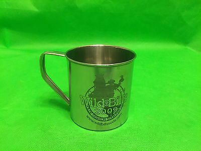 "2009 Wild Bill's Olde Fashioned Soda Pop Co.  4"" mug cup  stainless collectible"