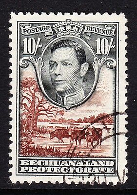 Bechuanaland 1938 10/- Black & Red-Brown Sg 128 Fine Used.