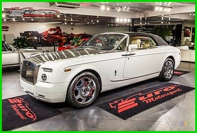 2008 Rolls-Royce Phantom Drophead Coupe Convertible 2-Door White over Tan hides Loaded with options only14k miles