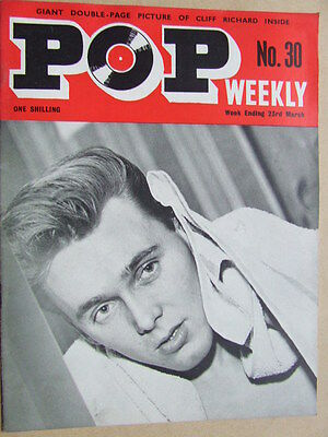 Pop Weekly No 30.  1st series, 1963.  The Golden Age of UK Pop Music!