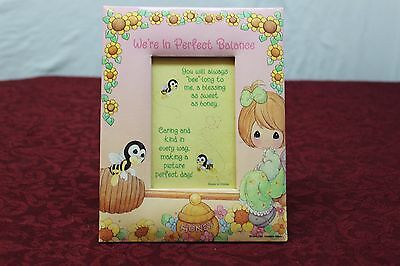 """1999 Precious Moments Soft Picture Frame for 3 x 5"""" Picture Bees Sunflowers"""
