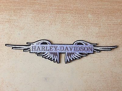 écusson brodé emboired patch harley motard biker ailes wings 19x3 cm