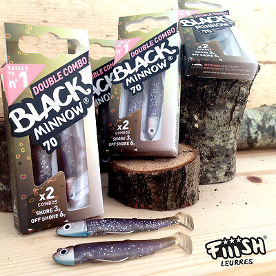Fiiish Black Minnow 70mm NEW Double Combo Trout - 3g and 6g Size 1