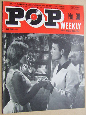 Pop Weekly No 38.  1st series, 1963.  The Golden Age of UK Pop Music!