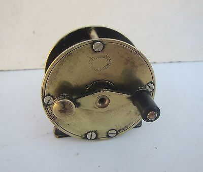 Vintage 'S. Allcock & Co Ltd' Brass Fishing Reel