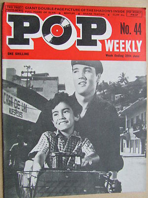 Pop Weekly No 44.  1st series, 1963.  The Golden Age of UK Pop Music!