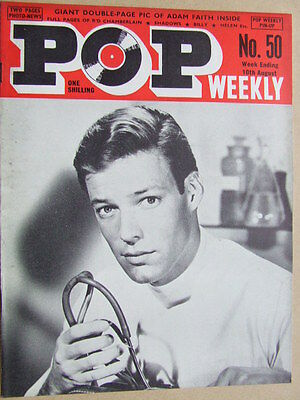 Pop Weekly No 50.  1st series, 1963.  The Golden Age of UK Pop Music!