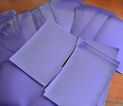 40x Card Sleeves, Plain Purple Protective Sleeves, Clear Front, CCG, MTG,