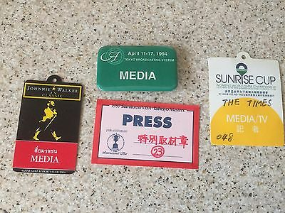 Four hard to obtain Golf Press Badges