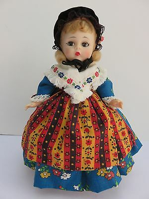 "Vintage Madame Alexander ""German"" Doll Bend Knee, Flutter Sleep Eyes with Stand"