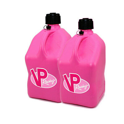 2 Pack Pink VP 5 Gallon Square Racing Fuel Gas Can/Utility Water Jug/ Jerry Can