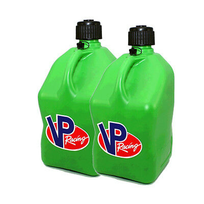 2 Pack Green MP 5 Gallon Square Racing Fuel Gas Can/Utility Water Jug/ Jerry Can