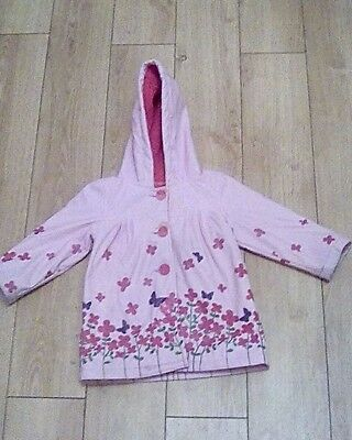 Girl's Pink/Floral.Waterproof/Lined.Hooded Jacket.Size 2-3yrs.