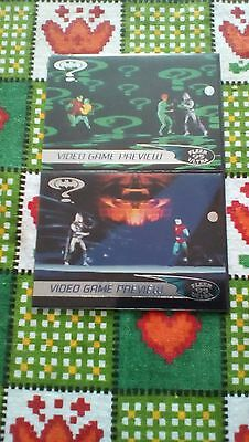 Fleer Ultra Batman Forever Video game preview tradiing cards in wallets